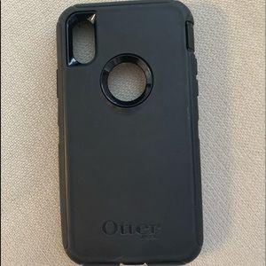 Black Otterbox Case- Iphone X